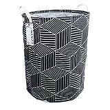 FANKANG Large Laundry Hamper Bag Storage Bin Collapsible Black Rhombus Deal