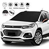 "Upgrade car windshield Snow cover, Universal Car Windshield Snow Ice Cover with magnetic, Sun, Frost Defense, Extra Large Windshield Winter Cover Fits Most Cars and SUV Mirror Covers and (87""x51.18"")"