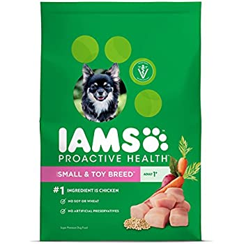 IAMS Proactive Health Dry Dog Food, Small & Toy Breed, 12.5 lbs. (Standard Packaging)