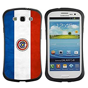 Shell-Star ( National Flag Series-Paraguay ) Hybrid Heavy Duty Shockproof iFace Fundas Cover Cubre Case para Samsung Galaxy S3 III / i9300 / i717