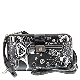Sakroots Artist Circle Large Smartphone Cross Body Phone Wallet (One Size, METALLIC SONGBIRD)