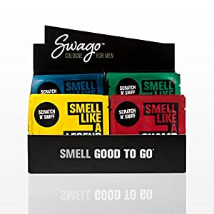 SWAGO Cologne Wipes for Men On-the-Go 20 Count Variety Pack