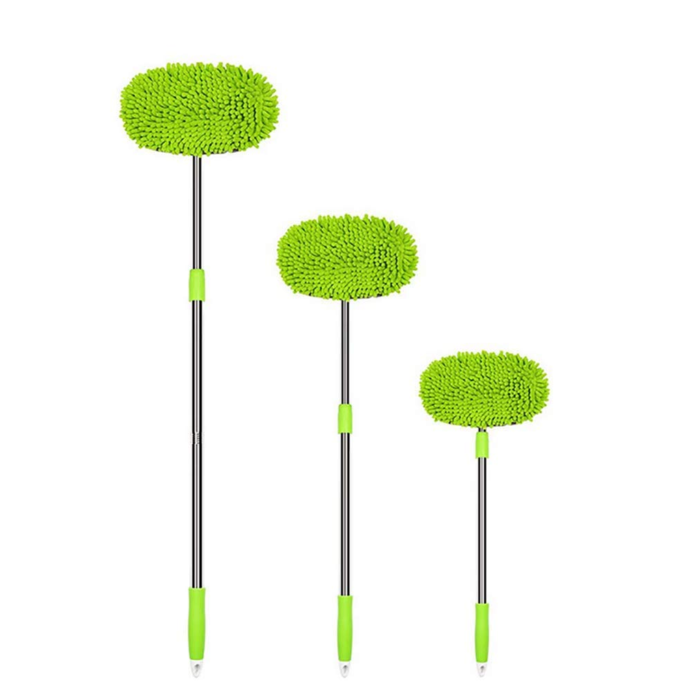 Hsdris Telescopic Brush Car Wash Dip Brush Wet Mop Car Cleaning Mop 180 Degree Rotating arm for Convenient and Firm Suitable for Cars or Families (70cm-138cm)