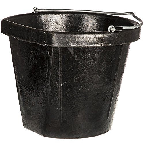 Fortex Flat Side Feed Bucket for Horses, -