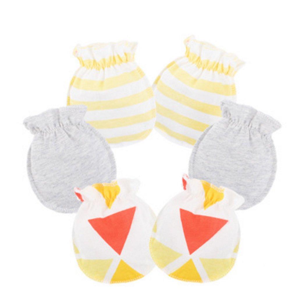 Baumwolle 3 Paar Autone Baby Anti-Kratz-Handschuhe f/ür Neugeborene