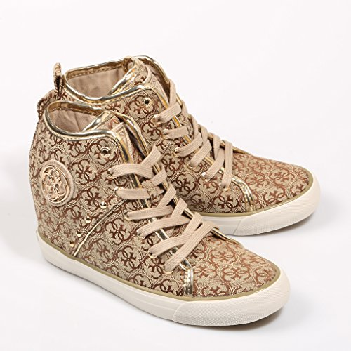 Guess Women's Jilly Hi-Top Trainers Beige (Beibr Beibr) KnA8M