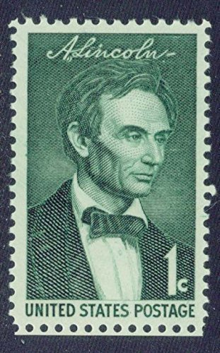 Abraham Lincoln portrait on mint, never-hinged US postage stamp Scott 1113 by USPS; US Post Office Dept; US Stamps