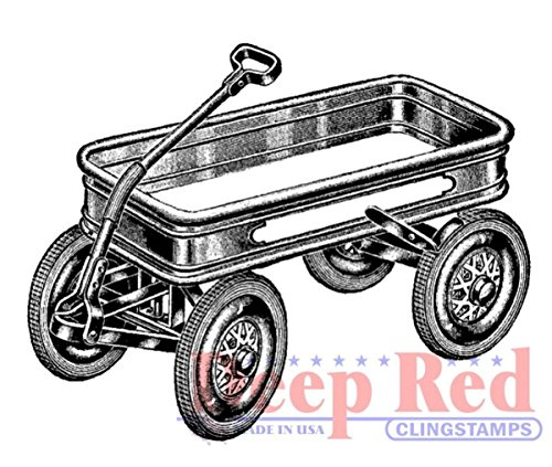 (Deep Red Stamps 3x405113 Little Red Wagon Rubber Stamp)