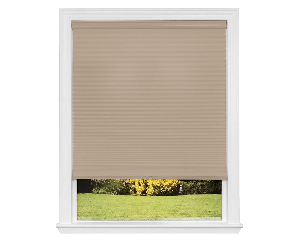 Redi Shade Z00C3601420 Simple Fit Made to Custom Width Cordless Honeycomb Cellular Shade, Khaki