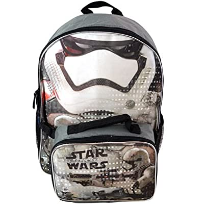 "Star Wars Backpack Ep7 - Stormtrooper 16"" w/ Lunch Bag New SWARK"