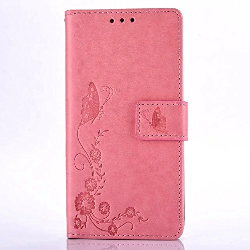 butterfly-floral-clover-embossed-pu-leather-magnetic-flip-cover-card-holders-hand-strap-wallet-purse