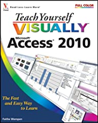 The visual way to get up to speed on Access 2010 It's one thing to gain access to Access. It's another thing entirely to figure out how to do all the things you want to do in Access, because the software is not all that intuitive. This full-c...