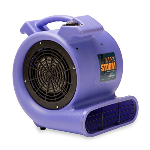 Soleaire Max Storm 1/2 HP Durable Lightweight Air Mover Carpet Dryer Blower Floor Fan Pro Janitorial, (Jet Air Blowers)