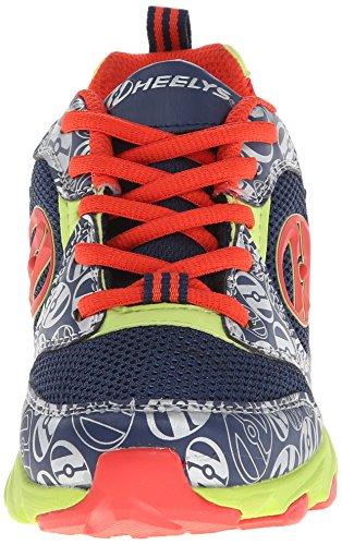 Heelys Race Zapatillas para Niños Heeley - Azul y quemado, 24 navy/burnt orange/lime