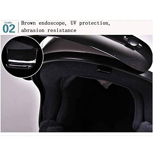 YSH Casco De Motocicleta 3/4 Open Half Face Moto Helmet Racing Riding Cascos Antiguos Moto para Hombres Mujeres Seguridad ABS Otoño Invierno,Black(A)-XL: ...