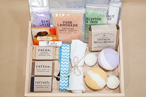 The Spa Relaxation Bath Package Pamper Perfect Gift with Two Bath Bombs, Bath Salts, All Natural Soap and so much more (Main)