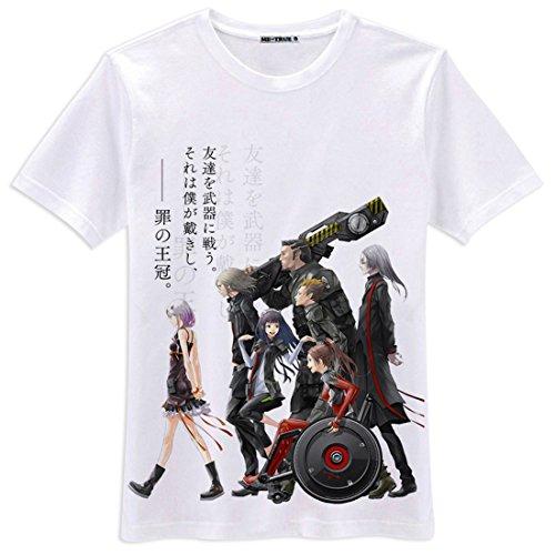 AnimeTown Guilty Crown Cosplay Costume Anime Short Sleeves Tee T-Shirt (XL, (Saint Gabriel Costume)