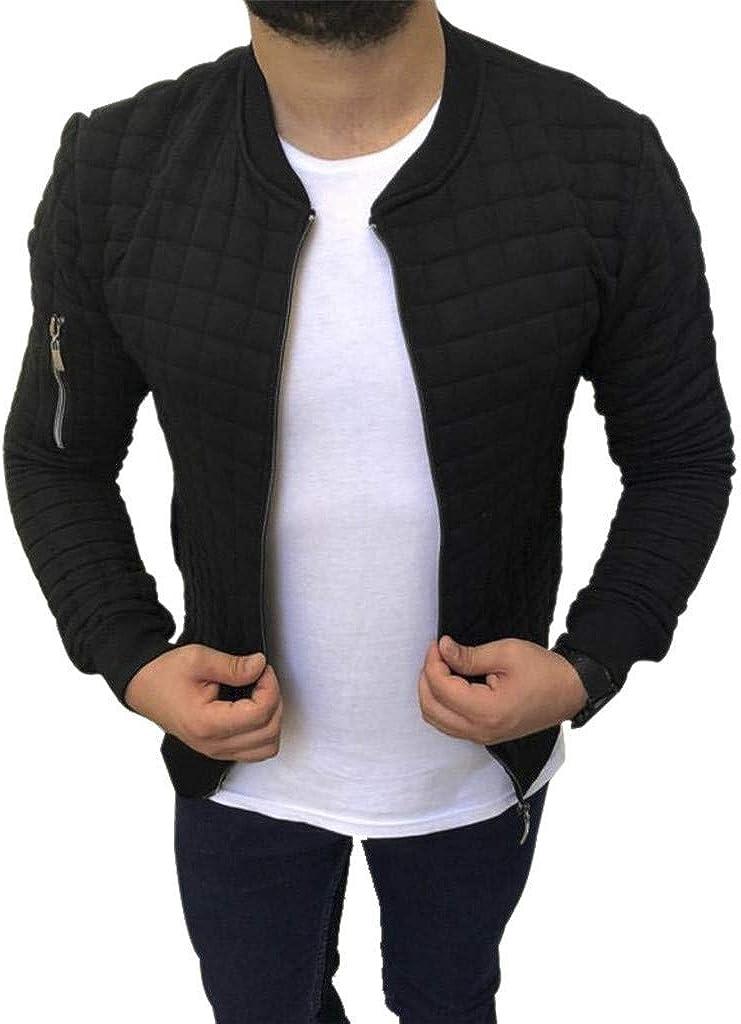 Houshelp Mens Full Zip Performance Jacket Sweatshirt Wind Resistant Outdoor Pullover Outdoor Jacket Sweater Coat