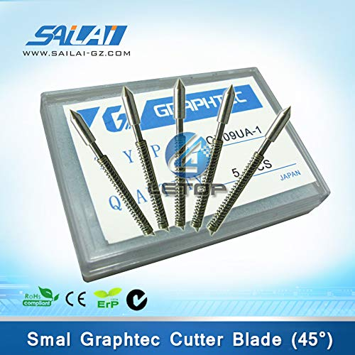 Printer Parts 5pcs/Box Graphtec Plotter Blade 45 Degree Cutting Plotter Blade CB09UA-1 Graphtec CB09 Silhouette Cameo Holder