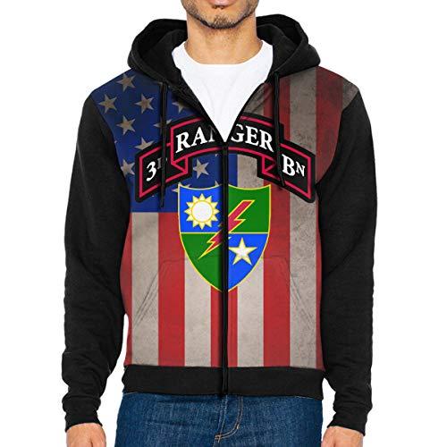 (NVTYGH HOODIE 3rd Ranger Battalion Full Zip Sweatshirt Drawstring Hoodies with Pockets)