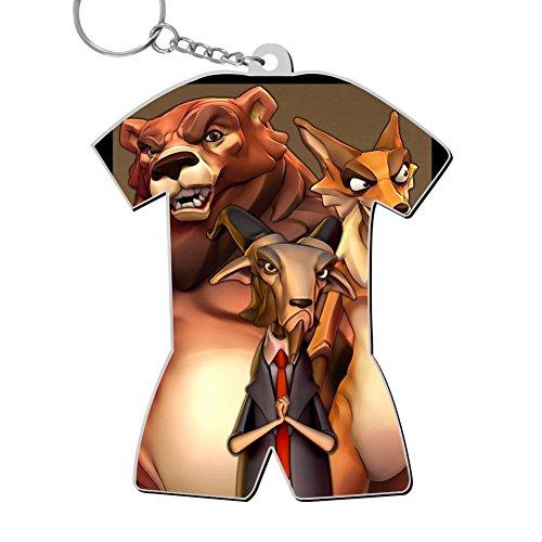 Business Key Chain,Print Bear Fox,Best Gift for Friends Men Women ()