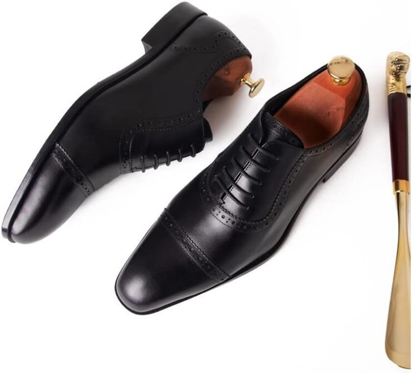 Men Oxford High-Grade First-Class Leather Shoes Trend Buckle Men Shoes Business Dress Wedding Shoes Flat Head MenS Shoes