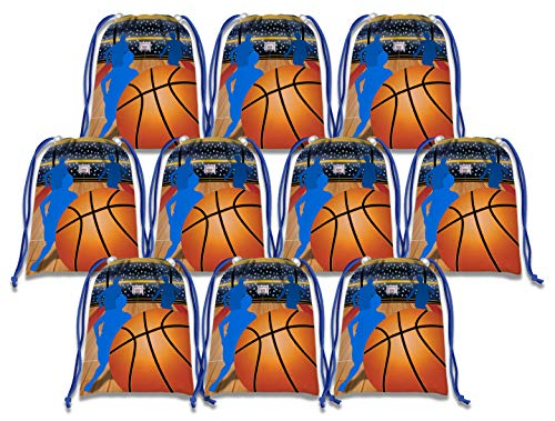Basketball Star Drawstring Bags Kids Birthday Party Supplies Favor Bags 10 Pack