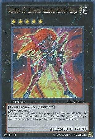 Yu-Gi-Oh! - Number 12: Crimson Shadow Armor Ninja (ORCS-EN042) - Order of Chaos - Unlimited Edition - Ultra Rare