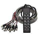 Seismic Audio SACB-8x4x50 8-Channel XLR Low Profile Circuit Board Snake Cable, 50-Feet