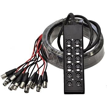 Amazon Com Seismic Audio Saxq 16x8x25 16 Channel 25