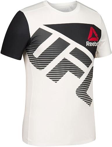 Regan Médico terciopelo  Amazon.com : adidas Reebok UFC Crossfit Men's White/Black Fight Kit  Performance Jersey (L) : Clothing