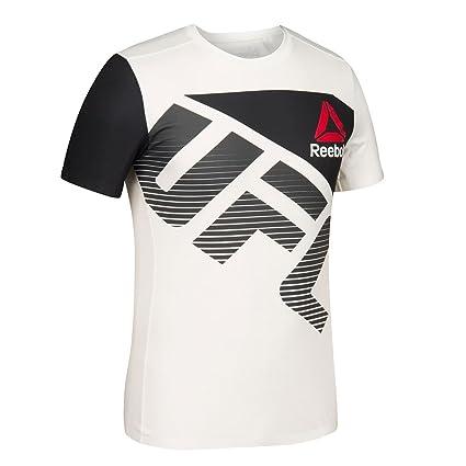 adidas Reebok UFC Official CKK (Chalk WhiteBlack) Fight Kit Walkout Jersey Men's