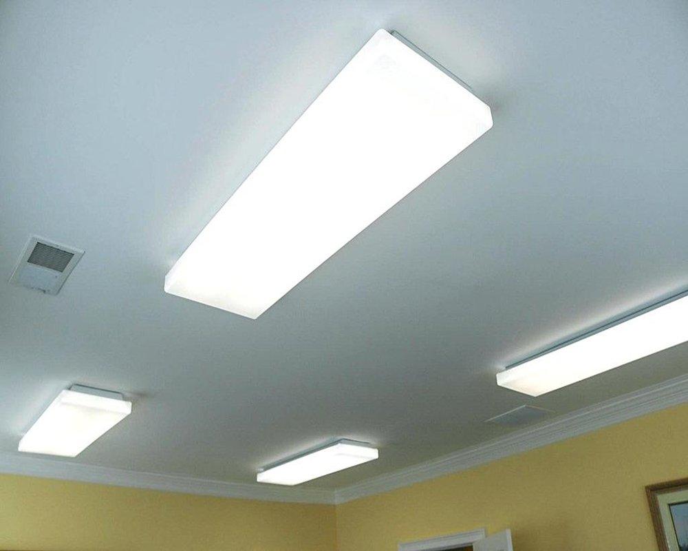 AntLux 72W LED Wraparound Light 4FT LED Office Lights Ceiling, 8000 ...