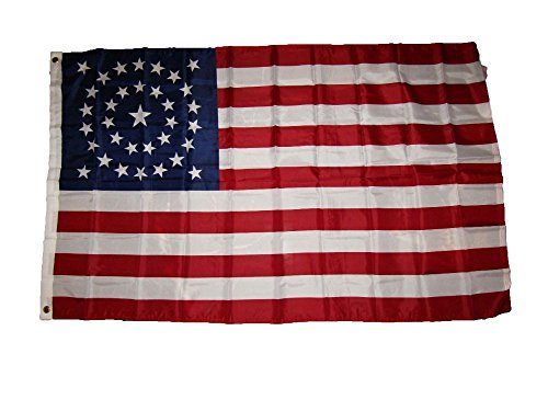 (3X5 Usa American 34 Stars Union Civil War Circular Flag 3'X5' Banner Grommets)