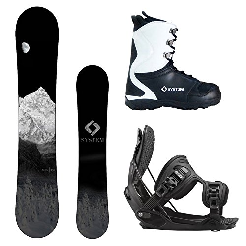 System MTN and 2018 Flow Alpha MTN Men's Complete Snowboard Package