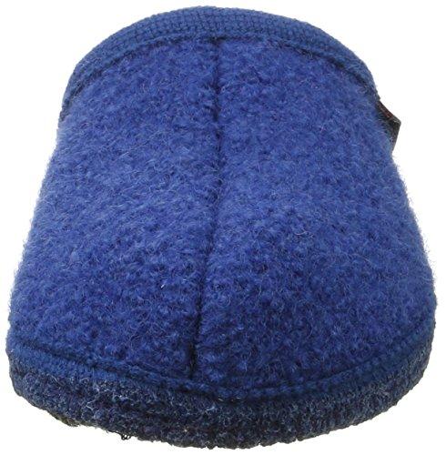 Haflinger Alaska 611001 - Zapatillas de casa de tela unisex Blau (Kaskade)
