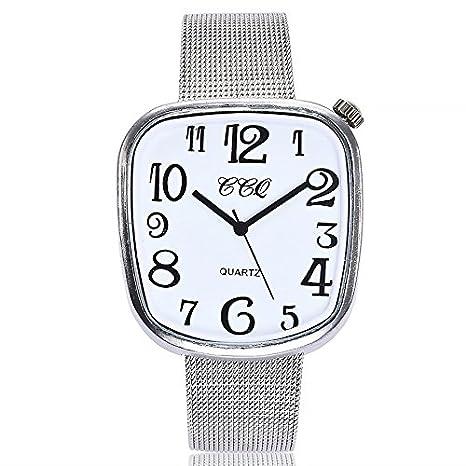 f3594a8d60b8 Relojes dellin Mujer hacha äufige Acero rayas de mármol banda de reloj de  cuarzo Acero inoxidable de banda analógico reloj de pulsera  Amazon.es  ...