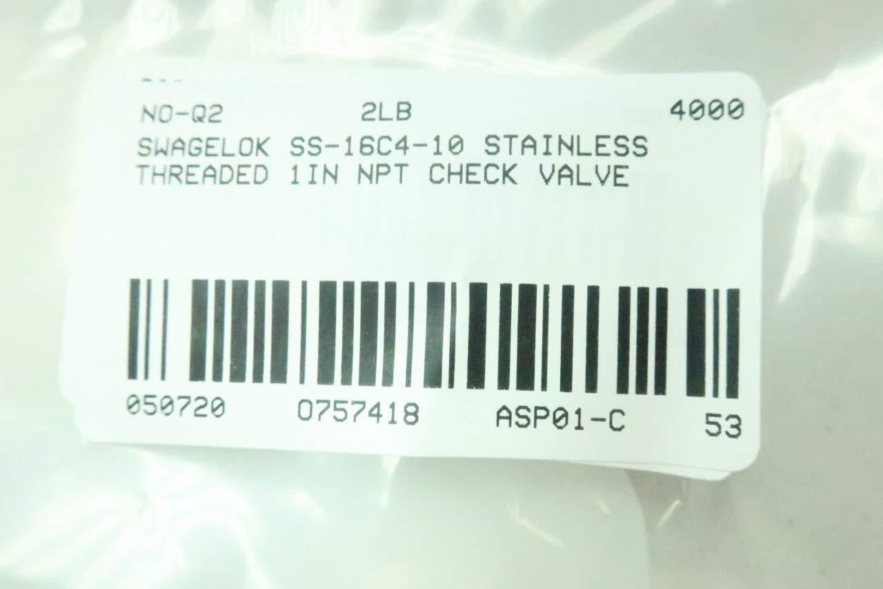 SWAGELOK SS-16C4-10 Stainless Check Valve 1IN NPT