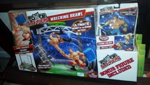 WWE Wrecking Brawl Plus Bonus Power Slammer Action 2 Figures by Mattel by Mattel