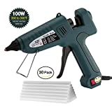 PUAO Hot Glue Gun,100W High Temp Heavy Duty Melt Glue Gun Kit with 30pcs Glue Sticks(7/16''x 8''),for office/Handmade crafts Decoration