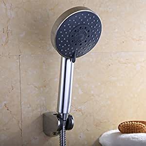 KES LP501B Bathroom FIVE Function Handheld Shower Head with Extra Long Hose and Bracket Holder Chrome