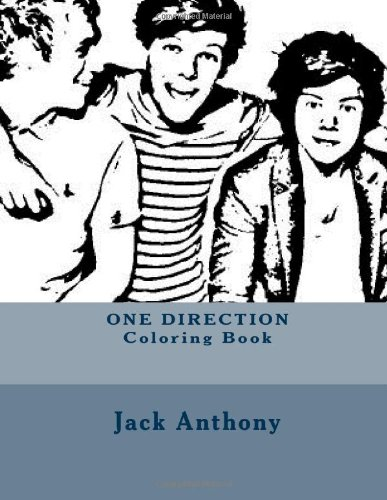one direction coloring book art coloring books jack anthony 9781484086735 amazoncom books