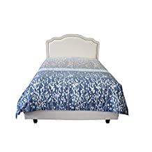 "Blue Night 100% Cotton 300TC Oversized King 110"" X 100"" Duvet Cover"