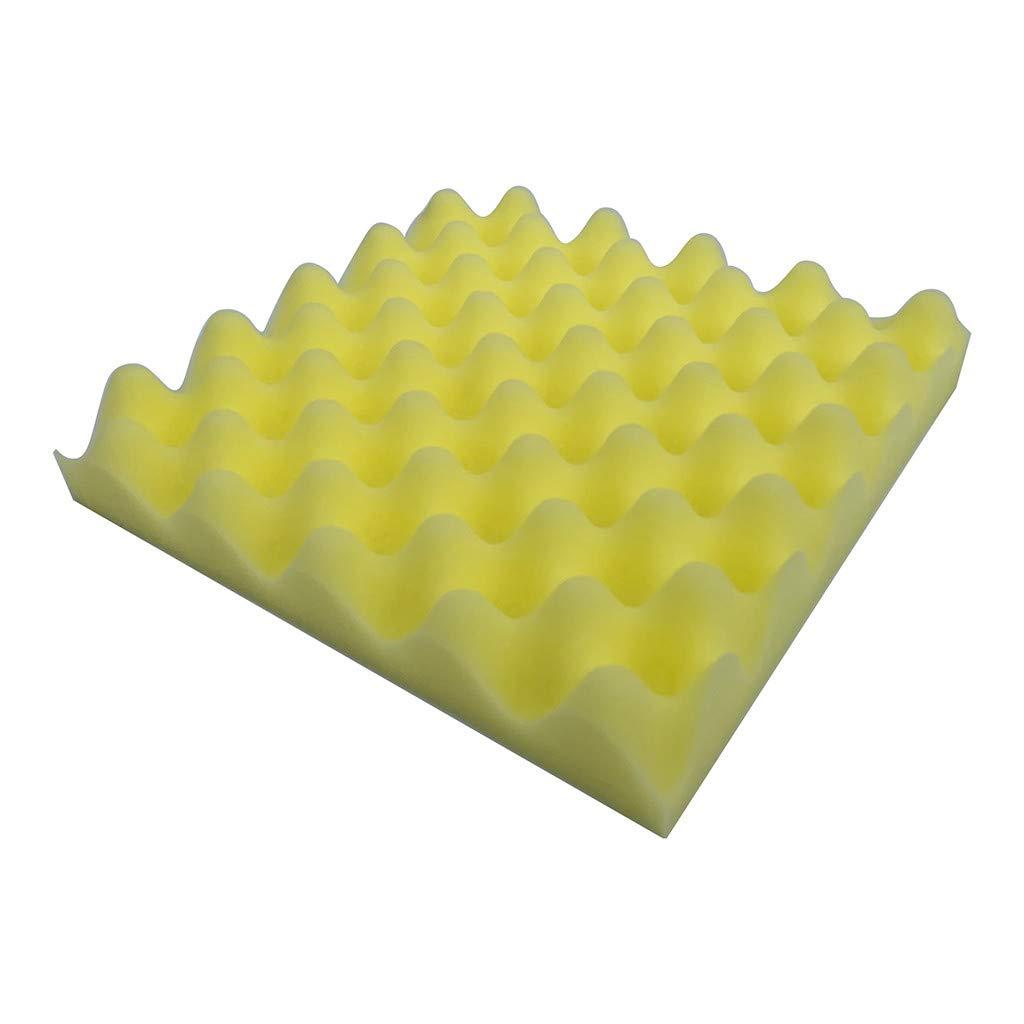 KTV Soundproof, Acoustic Foam Panel, Sound Stop Absorption Sponge Studio (ONE, Yellow)