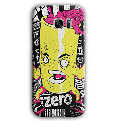 [Can of Juice Mascot Taste Sugar NEW Black 3D Samsung Galaxy S7 Edge Case | Wellcoda] (Vending Machine Costume Ideas)