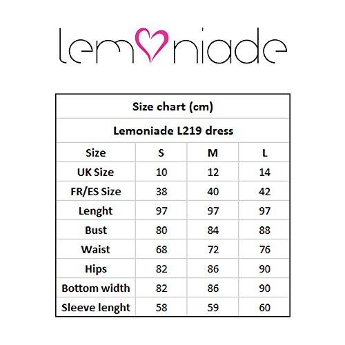Lemoniade Manica Abito Lunga Blu scuro Midi Femminile L219 A rfPrq
