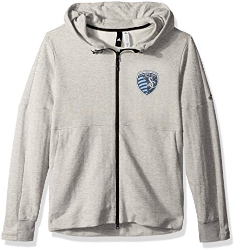 MLS Sporting KC Ultimate Worn French Terry Full Zip Jacket, XX-Large, Medium Grey