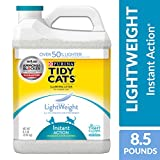 Purina Tidy Cats Light Weight, Dust Free, Clumping Cat Litter, Lightweight Instant Action Multi Cat Litter - (2) 8.5 lb. Jugs