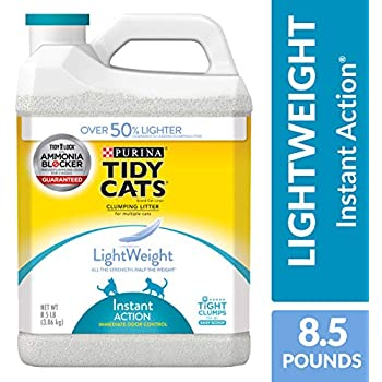 Purina Tidy Cats Light Weight, Low Dust, Clumping Cat Litter, LightWeight Instant Action Multi Cat Litter - (2) 8.5 lb. Jugs