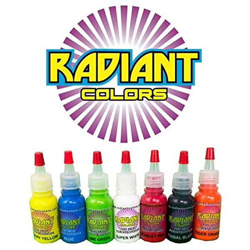 Price comparison product image Tattoo Ink Radiant Colors 7 Color 1/2oz Primary Set - MADE IN THE USA